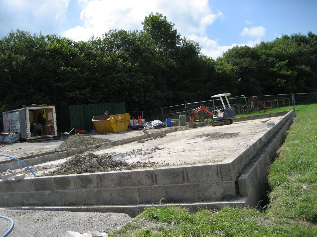 New hall construction